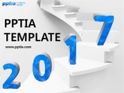 계단 위에 2017 템플릿