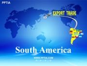 세계지도와 남아메리카(South America) 템플릿