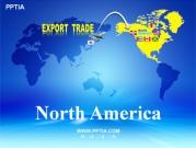 세계지도와 북아메리카(North America) 템플릿