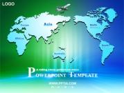 세계지도와 비행기 템플릿