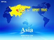 세계지도와 아시아 (Asia) 템플릿
