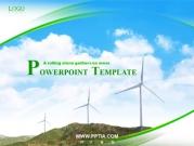 산과 풍력발전기 템플릿