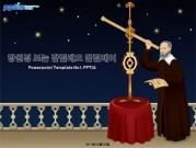 망원경 보는 갈릴레오 갈릴레이 템플릿