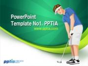 골프선수와 샷 템플릿