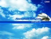 구름과 비행기 템플릿
