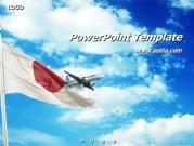 일본국기와 비행기 템플릿