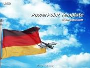 독일국기와 비행기 템플릿