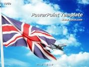 영국국기와 비행기 템플릿