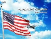 미국국기와 비행기 템플릿
