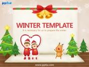 카드와 산타복 입은 커플 템플릿