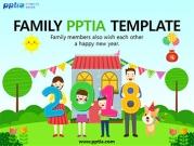 2018숫자 들고 있는 가족 템플릿