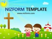 기도하는 아이들 템플릿