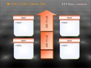 4개의 설명박스와 흐름화살표 템플릿