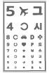 시력검사표 일러스트/이미지
