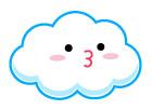 귀여운구름 일러스트/이미지