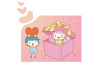 선물안의 소녀와 소년 템플릿