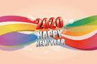 2020년 글자와 라인 템플릿