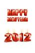 2012년 양초와 Happy New Year 글자 템플릿