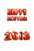 2013년 양초와 Happy New Year 글자 템플릿