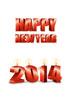2014년 양초와 Happy New Year 글자 템플릿
