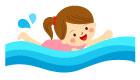수영하는여자아이 일러스트/이미지