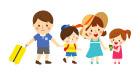 여름여행가는가족 일러스트/이미지