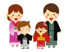 일본전통의상을입은가족 일러스트/이미지