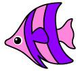 보라색물고기 일러스트/이미지