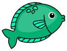 초록색물고기 일러스트/이미지