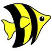 줄무늬물고기 일러스트/이미지