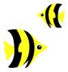 검은색줄무늬물고기 일러스트/이미지