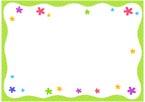 물결꽃패턴글상자 템플릿
