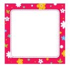 핑크꽃네모글상자 템플릿