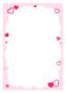 핑크하트글상자 템플릿