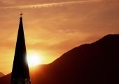 하늘과 교회지붕 템플릿