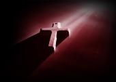 자주색의 십자가 템플릿