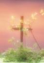 십자가와 나뭇가지 템플릿