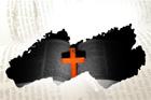 십자가와 영문성경 템플릿