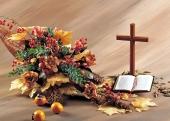 성경과 십자가 템플릿