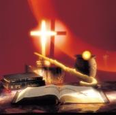 십자가와 성경책 템플릿