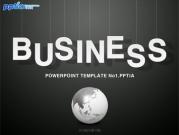 BUSINESS글자와 지구본 템플릿