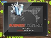 태블릿PC와 세계지도 템플릿