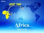 세계지도와 아프리카(Africa) 템플릿