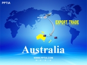 세계지도와 오세아니아(Australia) 템플릿
