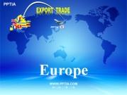 세계지도와 유럽(Europe) 템플릿