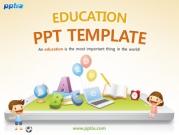 태블릿pc 위에 어린이와 학습관련 소품들 템플릿