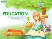 책읽는 소녀와 작은요정 템플릿