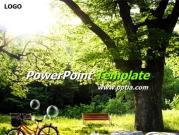 자전거와 나무 템플릿