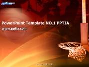 농구 골대와 농구공 템플릿