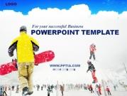스키 타는 사람들 템플릿